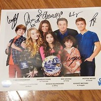 Girl Meets World Autographed 8x10 Photo Entire Cast Hand Signed Boy Disney RARE