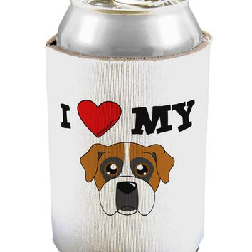 I Heart My - Cute Boxer Dog Can / Bottle Insulator Coolers by TooLoud