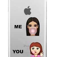Kimoji Kim Kardashian kanye west north kylie jenner Soft TPU Phone Case Cover Coque For iPhone 7Plus 7 6 6S 5 5S SE 5C 4 4S 11