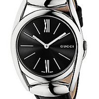 Gucci - Horsebit Stainless Steel & Leather Strap Watch/Black - Saks Fifth Avenue Mobile