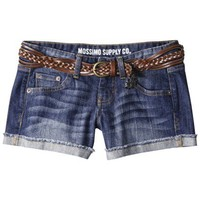 Mossimo Supply Co. Juniors Belted Denim Short - Medium Wash