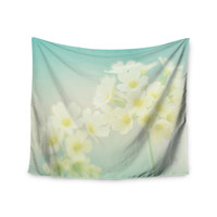 "Monika Strigel ""Happy Spring"" Yellow Teal Wall Tapestry"