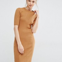 Y.A.S Boni Ribbed Bodycon Dress In Knit at asos.com