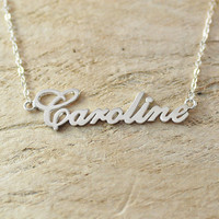 925 sterling silver name necklace Mother's Day gift for mom  love you mom Mother necklace Personalized  Necklace mommy necklace Mom Necklace