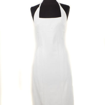 Narciso Rodriguez White Halter Dress