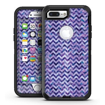 Purple Basic Watercolor Chevron Pattern - iPhone 7 Plus/8 Plus OtterBox Case & Skin Kits
