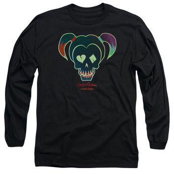 Suicide Squad - Harley Skull Long Sleeve Adult 18/1 Officially Licensed Shirt