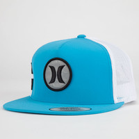 Hurley Flammo Krush Mens Snapback Hat Blue One Size For Men 23172120001