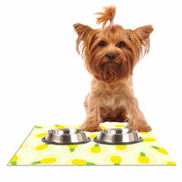 "Strawberringo ""Pineapple Pattern"" Yellow Fruit Dog Place Mat"