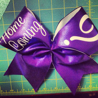 Custom homecoming or prom cheer bow