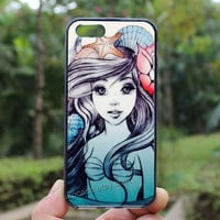 mermaid,cartoon,loves,iphone 5s case,iphone 4 case,iPhone4s case, iphone 5 case,iphone 5c case,Gift,Personalized,water proof