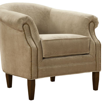 Hyde Velvet Club Chair, Sand, Club Chairs
