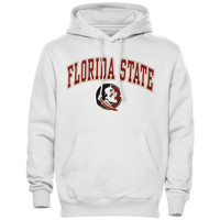 Florida State Seminoles New Agenda Midsize Arch Over Logo Hoodie - White