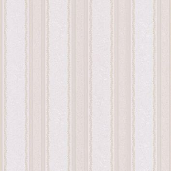 Brewster Wallpaper 986-56059 Cordelia Pearl Ornate Stripe