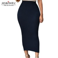 High Waist Long Tight Maxi Skirts