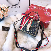 GUCCI Sylvie leather mini handle shoulder bag