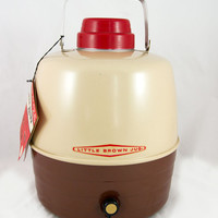 Vintage NOS Little Brown Jug - Camping, Glamping, Retro Picnic - New with Tags