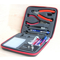 Magic stick CW tool coil vape Complete kit E-cig master 6 IN 1 DIY jig vape tool kit PE Box ecig rda tool kit