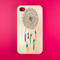 Iphone 4 Case - Vintage DreamCatcher Iphone Case, Iphone 4s Case