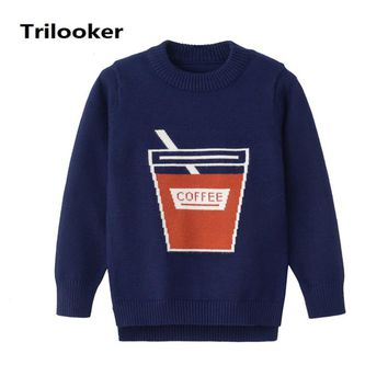 6M to 3T baby & infant boys casual graphic knitted pullover sweater children toddler fashion autumn winter sweater outerwear
