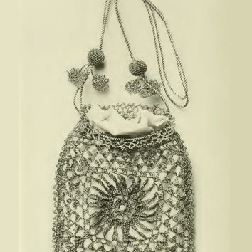 Dolly Varden Bag – Vintage Crochet Pattern. Purse. Ladies Women Fashion Accessory. PDF Instant Download