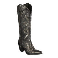 Lane Boots - Stud Royale Distressed Black
