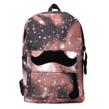 Galaxy Pattern Unisex Travel Backpack Canvas Leisure Bags School Bag