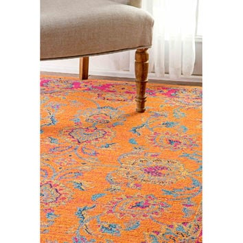 Bungalow Rose Kiaan Orange Area Rug & Reviews | Wayfair