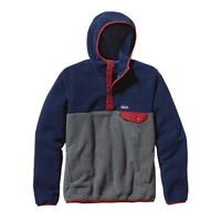 Patagonia Men's Synchilla® Recycled Snap-T® Fleece Hoody | Tobago Blue