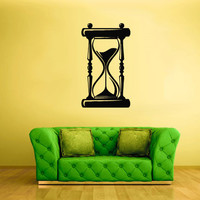 Wall Vinyl Sticker Decals Decor Art Bedroom Design Mural Retro Poster hourglass Time (z1852)
