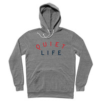 Quiet Life: Standard Two Tone Pullover Hoodie - Heather Grey