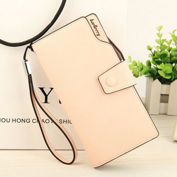 Baellerry Baelerry Luxury Brand Logo Womens Wallet Long Hasp Zipper Trifold Purse Women cell phone clutch Portable Cash Purses