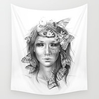 Butterfly caught Wall Tapestry by EDrawings38