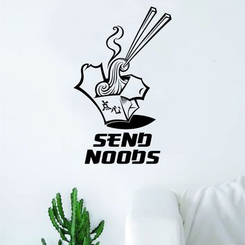 Send Noods Decal Sticker Wall Vinyl Art Wall Bedroom Room Home Decor Funny Noodles Food Chinese Asian Ramen