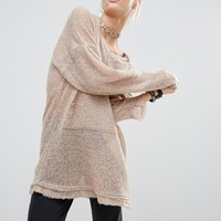 The Ragged Priest Extra Long Sleeve Knit Hoodie at asos.com