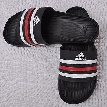 ONETOW Adidas Casual Women Stripe Sandal Slipper Shoes