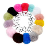 Fur Ball Key Chain 8cm Pom Pom