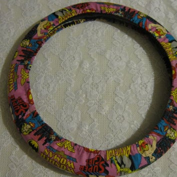 Super Heroes * Steering Wheel Cover * Super Women Girl * Wonder Woman * Bat Woman * Justice League