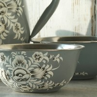 One Kings Lane - Crafted with Care - S/4 Pansa Floral Bowls