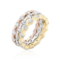 Tri-tone Stackable Rings, size : 06