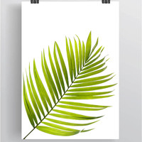 Tropical Leaf Print, Green Palm Art, Palm Art, Palm Leaves, Art Photo, Tropical Prints, Palm Leaf Prints, Tropical Decor, Green Decor *17*