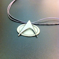 Sterling silver Star Trek pendant- Star Trek insignia-Star Trek badge-Geekery-Geeky jewelry-Artisan jewelry