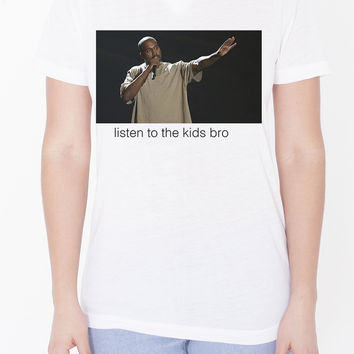 Womens Custom V-Neck - Kanye The Kids