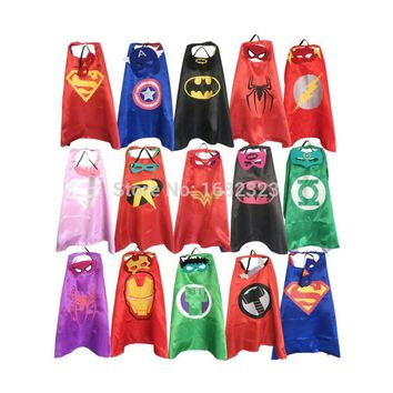 Superhero capes with masks for kids birthday party - birthday party supplies - party favor