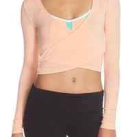 Alo 'Ameilia' Reversible Wrap Crop Top | Nordstrom