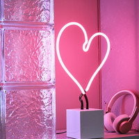 Neon Mfg. Heart Neon Sign Table Lamp   Urban Outfitters
