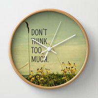 Travel Like A Bird Without a Care Wall Clock by Olivia Joy StClaire
