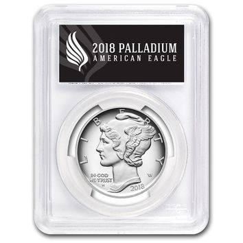 2018-W 1 oz Proof Palladium American Eagle PR-70 PCGS (First Strike, Black)