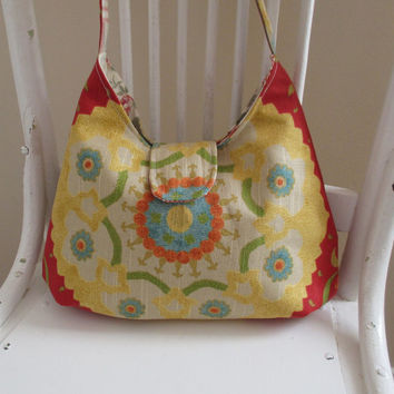 Shoulder Bag Red Yellow Blue And Green Modern Design