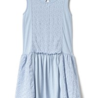 Eyelet tiered tank dress | Gap